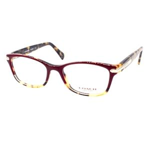 Coach Eyeglasses HC 6065 5437 49.17 135 Burgundy T